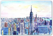 Glasbilder - Glasbild Bleichner - Manhattan