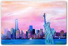 Glasbilder - Glasbild Bleichner - Manhattan Skyline