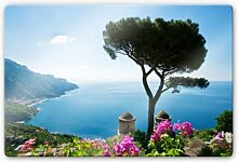 Glasbilder - Glasbild Blick auf die Amalfiküste