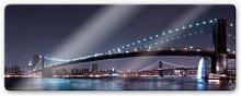 Glasbilder - Glasbild Bravin - Manhattan Skyline