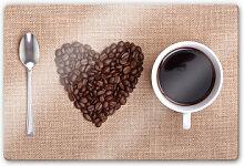 Glasbilder - Glasbild I love Coffee