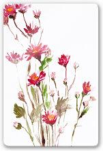 Glasbilder - Glasbild Illustrierte Wildblume