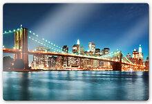Glasbilder - Glasbild - Lights in New York City 02