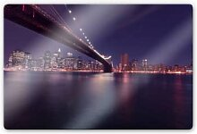Glasbilder - Glasbild Lights in New York City