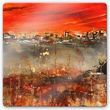 Glasbilder - Glasbild Niksic - Am Rande der Stadt