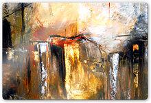 Glasbilder - Glasbild Niksic - Licht und Landschaft