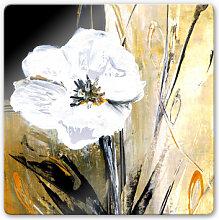 Glasbilder - Glasbild Niksic - Modern Flower