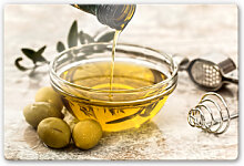 Glasbilder - Glasbild Olivenöl