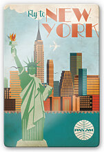 Glasbilder - Glasbild PAN AM - Fly to New York