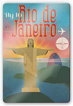 Glasbilder - Glasbild PAN AM - Fly to Rio de