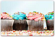 Glasbilder - Glasbild Party Cupcakes