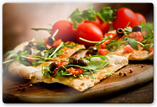 Glasbilder - Glasbild Pizza all´Italiana