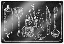 Glasbilder - Glasbild Rustic Kitchen
