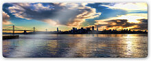 Glasbilder - Glasbild San Francisco Skyline -
