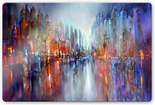 Glasbilder - Glasbild Schmucker - Stadt am Fluss