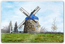 Glasbilder - Glasbild Toetzke - Traditionelle Windmühle