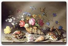 Glasbilder - Glasbild Van der Ast - Blumen,