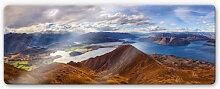 Glasbilder - Glasbild Yan - Aussicht vom Roys Peak