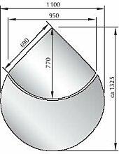 Glasbodenplatte Saisonplatte 2 teilig ESG-Glas 6 mm Modell 3 Funkenschutz Kamin Kaminofen