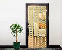 Glasdekor Tattoo Türfolie Tönungsfolie Schutzfolie Frosted - Ringe Vertikal II - 90 x 200 cm - Gold - Fenstertattoo - Fensterfolie - Klebefolie - Glastür - Fenster - Glasdekorfolie - Form - Blickdicht - Wohnzimmer - Küche - Bad - Praxis - Büro - Eigene Herstellung - Qualitätsware