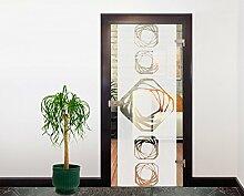 Glasdekor Türfolie Milchglas Achtecke I 90 x 200