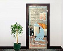 Glasdekor Türfolie Milchglas Fisch II 90 x 200 cm