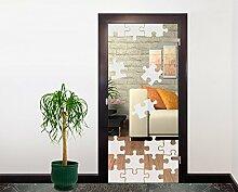 Glasdekor Türfolie Milchglas Puzzle II 90 x 200