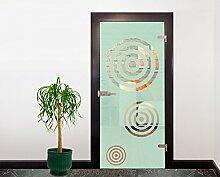 Glasdekor Türfolie Milchglas Scheiben I 90 x 200