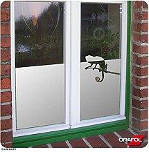 Glasdekorfolie Sichtschutzfolie Fensterfolie Sonnenschutz Chamäleon satiniert ORAFOL® + kostenlose Maßanfertigung (siehe 2. Produktbild)