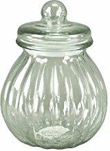 Glasdose mit Deckel Bauchig Aufbewahrungsglas Vorratsglas Konfekt Shabby Chic Klein (Höhe: 24,5 cm)