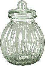 Glasdose mit Deckel Bauchig Aufbewahrungsglas Vorratsglas Konfekt Shabby Chic Mittel (Höhe: 29 cm)