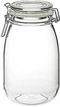Glasdose mit Deckel Klarglas, montiert, Größe:
