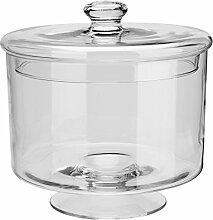 Glasdose mit Deckel Puebla, 24.5x25.0cm (DxH), transparent, 1 Stück