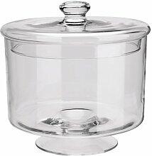 Glasdose mit Deckel ØxH=24,5x25 cm 1 St.