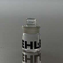 Glasdose mit eingeschliffenem Deckel (4cm)