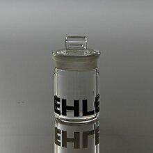 Glasdose mit eingeschliffenem Deckel (7cm)