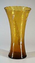 Glasfeld, Bernsteinfarbene, Glas, Vase, weiße