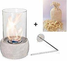 Glasfeuer Tischkamin Feuerstelle Kamin Tischfeuer