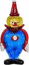 Glasfigur Figur Clown Glas im Murano Antik Stil
