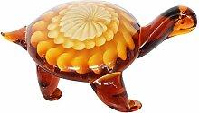 Glasfigur Figur Schildkröte Glas im Murano Antik