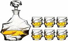 Glasflasche Set Decanter Kreative Weinset Whiskey