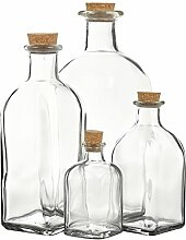 Glasflaschen zur Aufbewahrung, Flaschen, Glas mit