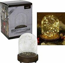 Glasglocke mit LED Beleuchtung - Weihnachten -