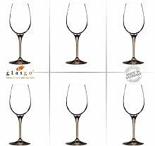 GlasGo Design Weinglas, 6er Set Gläser Rotwein, Weißwein, hochwertig und edel. Farbe, farbig, bunt, stilvolle Impressionen, tolles Ambiente