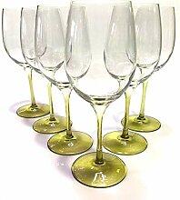 GlasGo Prime-Versand Design Weinglas Olive, 6er