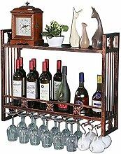 Glashalter für Weinregale zur Wandmontage,auf dem