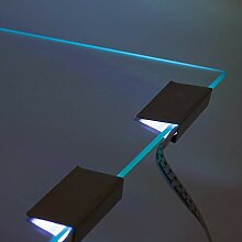Glaskantenbeleuchtung 4er Set rgb