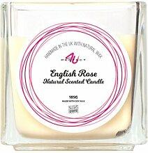 Glaskerze Englische Rose ClearAmbient