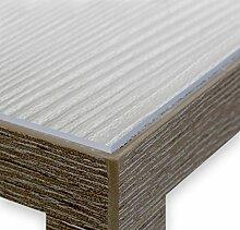Glasklar Folie 2,0 mm transparente Tischdecke Tischschutz, Meterware Breite und Länge wählbar, 60x1000 cm