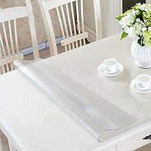 Glasklar Folie Transparente Tischdecke,